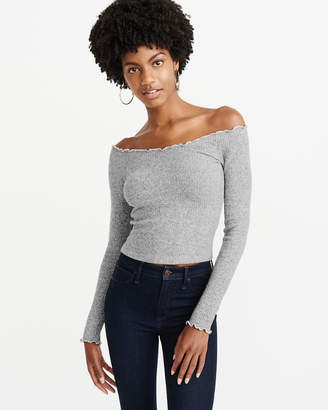 Abercrombie & Fitch Long-Sleeve Off-The-Shoulder Top