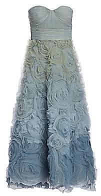 Marchesa Women's Floral Ombré Fit-&-Flare Dress