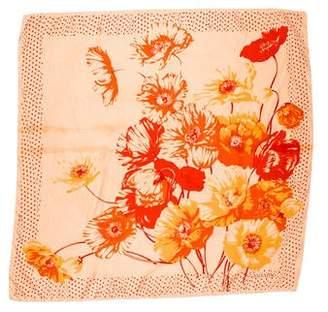 Valentino Floral Silk Scarf