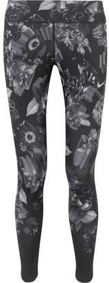 Nike Epic Lux Printed Stretch Leggings - Black