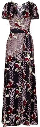 Temperley London Bellflower Sequin-embellished Printed Dress