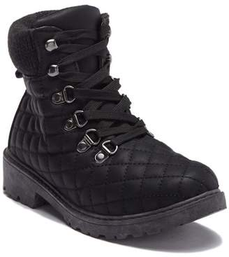 OLIVIA MILLER Quilted Lace-Up Boot (Little Kid & Big Kid)