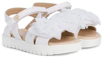 Miss Blumarine bow open toe sandals