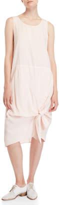 Clu Light Pink Knotted Midi Dress