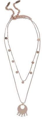 Luv Aj Double Disco Set Of Two Rose Gold-Tone Crystal Necklaces