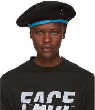 Facetasm Black Logo Beret