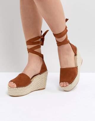 Raid RAID Brigid Tan Espadrille Wedge Sandals