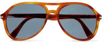 Persol Aviator-Style Tortoiseshell Acetate Sunglasses
