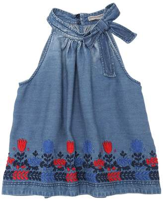 Ermanno Scervino Embroidered Chambray Top