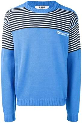 MSGM Identity knit sweater