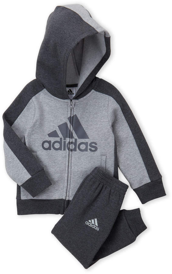 Adidas (Toddler Boys) Two-Piece Athletics Fleece Hoodie & Joggers Set