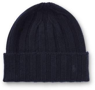 Ralph Lauren Wide-Rib Cashmere-Wool Cap