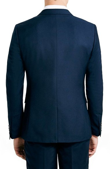 Men's Topman Navy Skinny Fit Suit Jacket 2