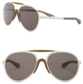Givenchy 57mm Metal Aviator Sunglasses