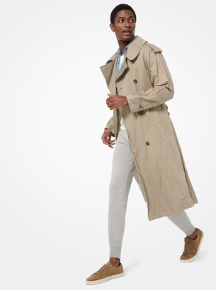 Michael Kors Crushed Cotton Trench Coat
