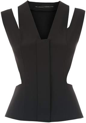 Gloria Coelho cut out vest