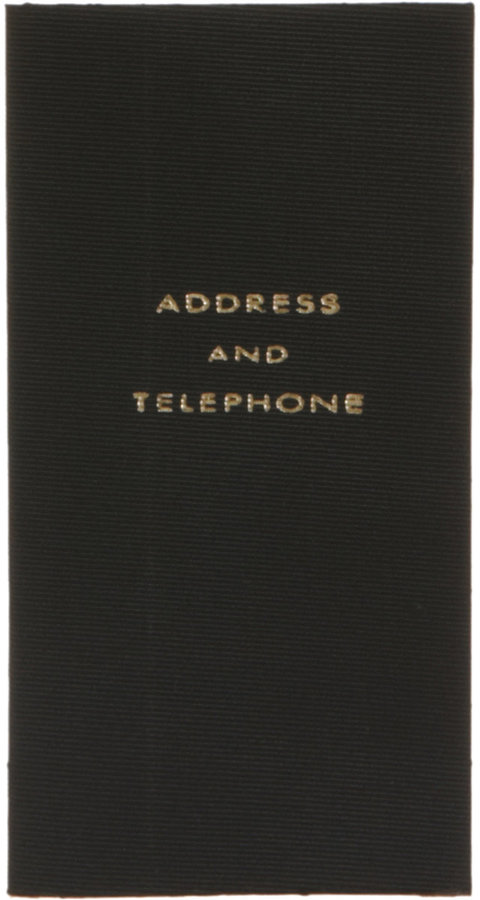 Smythson Wafer Silk Address Book