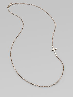 14K Yellow Gold Cross Chain Necklace