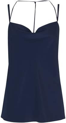 bafdf11150f2c Dorothy Perkins Womens Navy Cowl Neck Camisole Top
