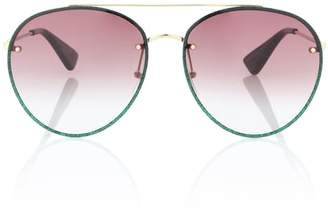 Gucci Glitter aviator sunglasses