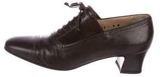 Salvatore Ferragamo Leather Square-Toe Booties