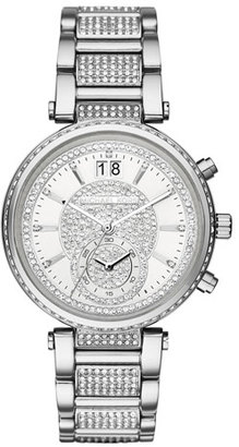 Michael Kors Sawyer 39mm Pavé Crystal Watch $250 thestylecure.com