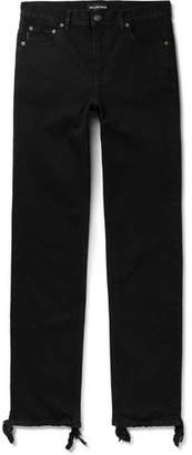 Balenciaga Skinny-Fit Distressed Stretch-Denim Jeans - Men - Black