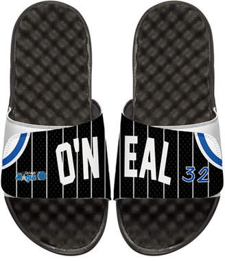 ISlide Men's NBA Retro Legends Shaquille O'Neal 32 Jersey Slide Sandals, White