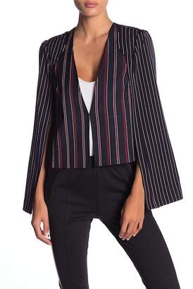 BCBGeneration Patched Stripe Cape Jacket