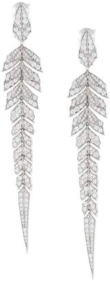 Stephen Webster 18kt gold Magnipheasant diamond earrings
