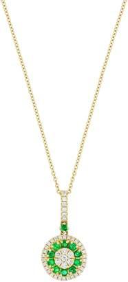 Bony Levy Diamond & Emerald Pendant Necklace