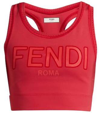 Fendi Roma Logo Sports Bra - Womens - Red