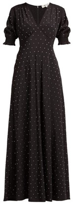 Diane von Furstenberg Avianna Crystal Embellished Silk Maxi Dress - Womens - Black