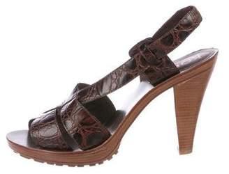KORS Embossed Leather Sandals