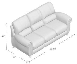Co Darby Home Kahle Leather Reclining Sofa