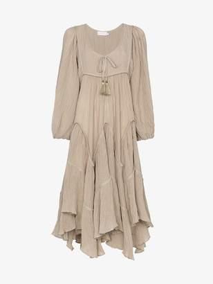 Zimmermann Melody chevron tier dress