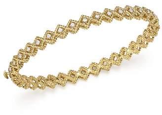 Roberto Coin 18K Yellow Gold New Barocco Diamond Single Row Bangle