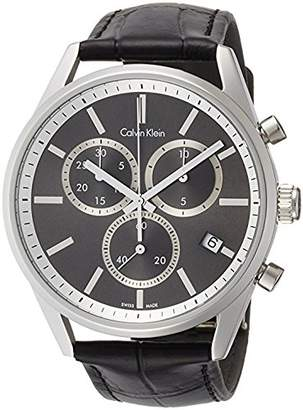 Calvin Klein Formality Leather Dial Quartz Analog Men's Watch K4M271C3
