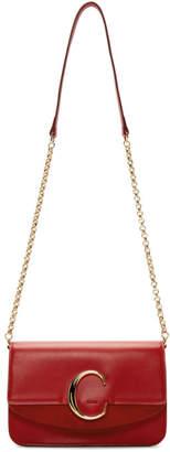 Chloé Red C Chain Clutch Bag