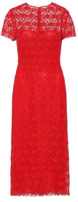 Valentino Floral lace midi dress