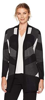 Kasper Women's Edge Long Cardigan Sweater