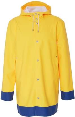 Stutterheim 'Stockholm Frame' contrast hem unisex hooded raincoat