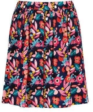 Des Petits Hauts Sidi Flower Print Viscose Crepe Skirt