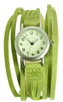 Tokyobay Tokyo Bay T432-GR Women's Gaucho Stainless Steel Green Leather Band Dial Watch