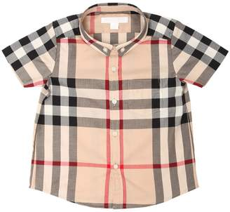 Burberry Check Classic Cotton Drill Shirt