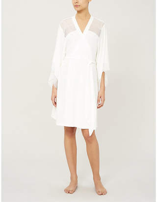 Eberjey Phoebe jersey and lace dressing gown