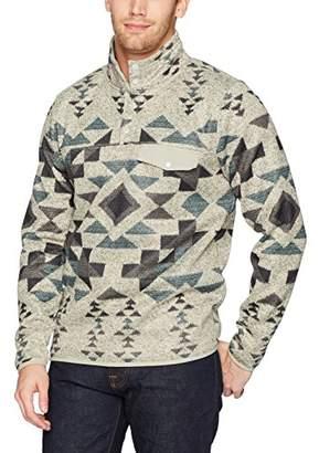 Lucky Brand Men's Shearless Fleece Aztec Mock Neck Sweater