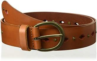 House of Boho Linear Perforated 100% Leather Belt