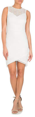 GUESS Lace Striped Sleeveless Dress