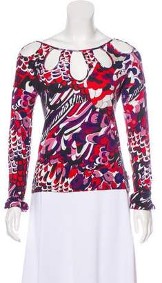 Christian Lacroix Long Sleeve Printed Top